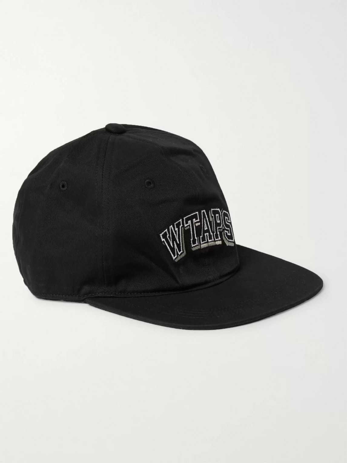 Wtaps T-6h Logo-embroidered Cotton-twill Baseball Cap In Black