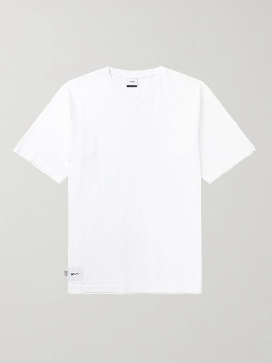 WTAPS Oversized Logo-Appliquéd Cotton-Jersey T-Shirt
