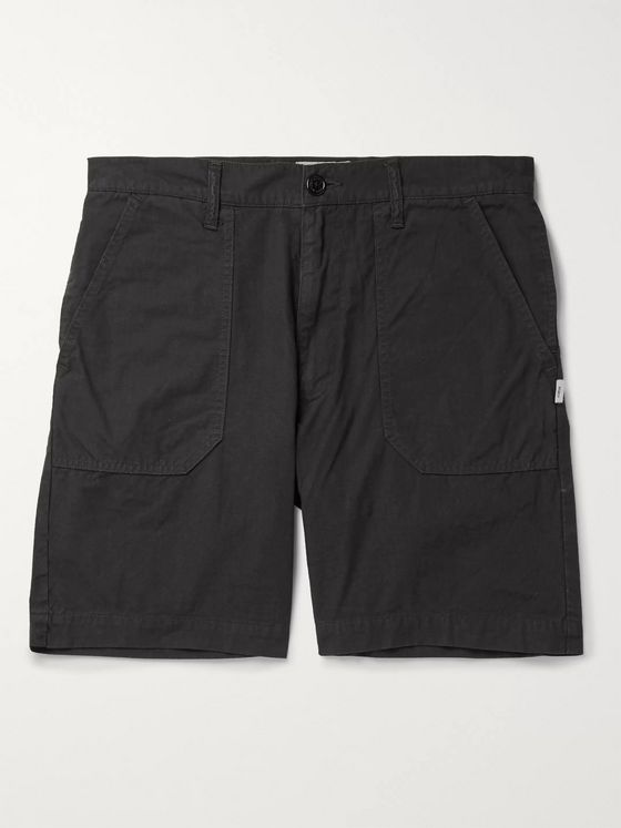 WTAPS Buds Wide-Leg Cotton-Ripstop Shorts