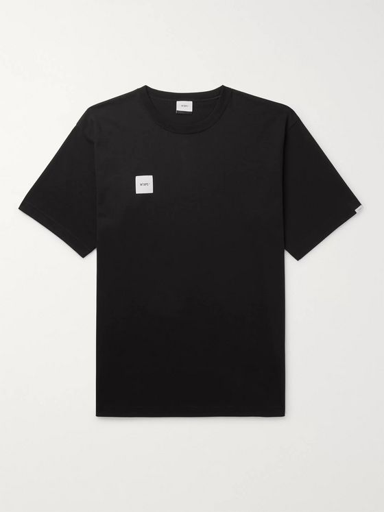 WTAPS Logo-Appliquéd Cotton-Blend Jersey T-Shirt