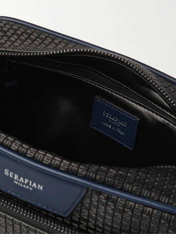 Serapian Coated-Canvas Wash Bag