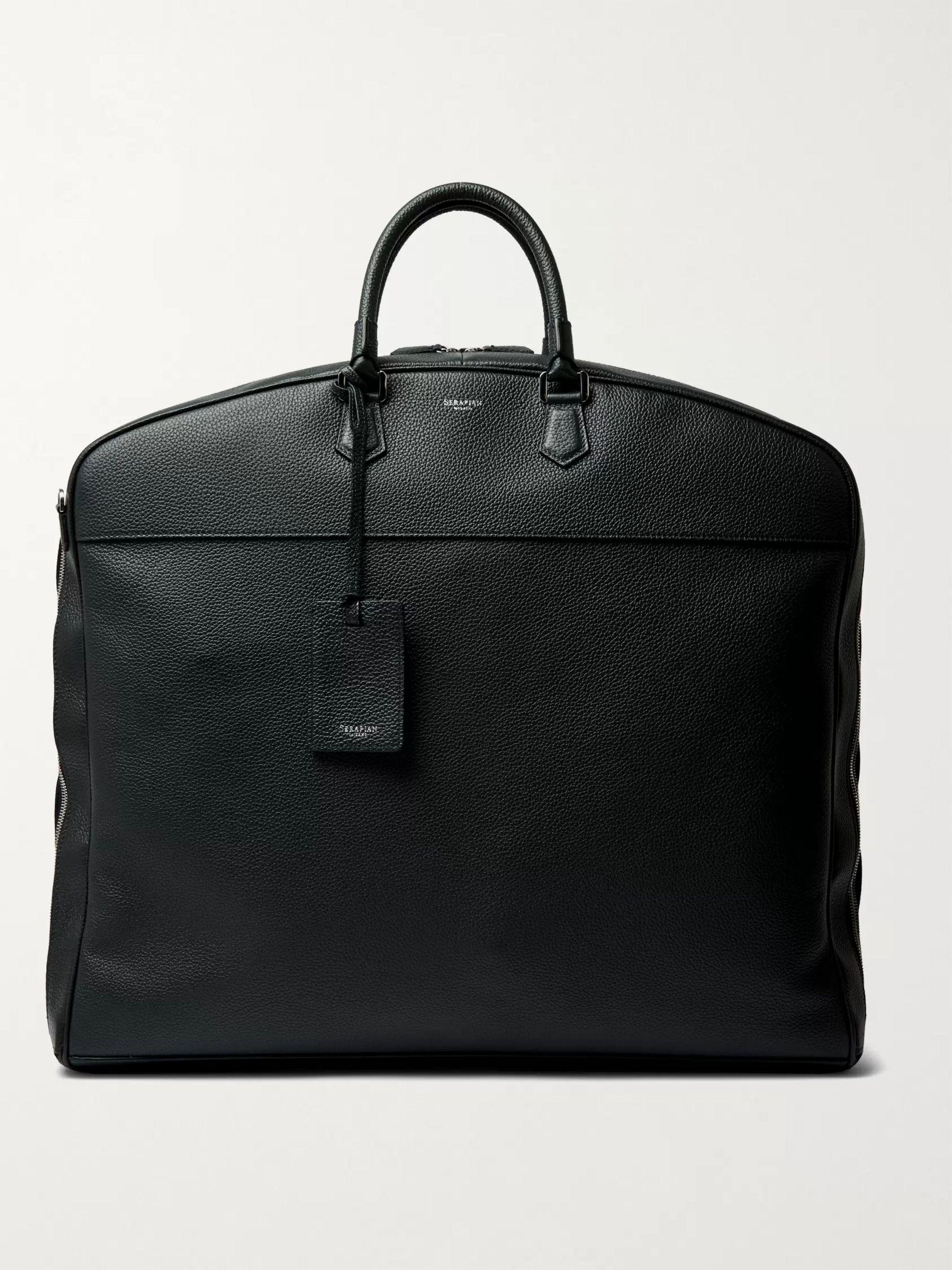 Serapian Full-Grain Leather Garment Bag