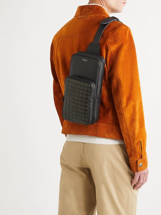 Serapian Woven and Smooth Leather Backpack