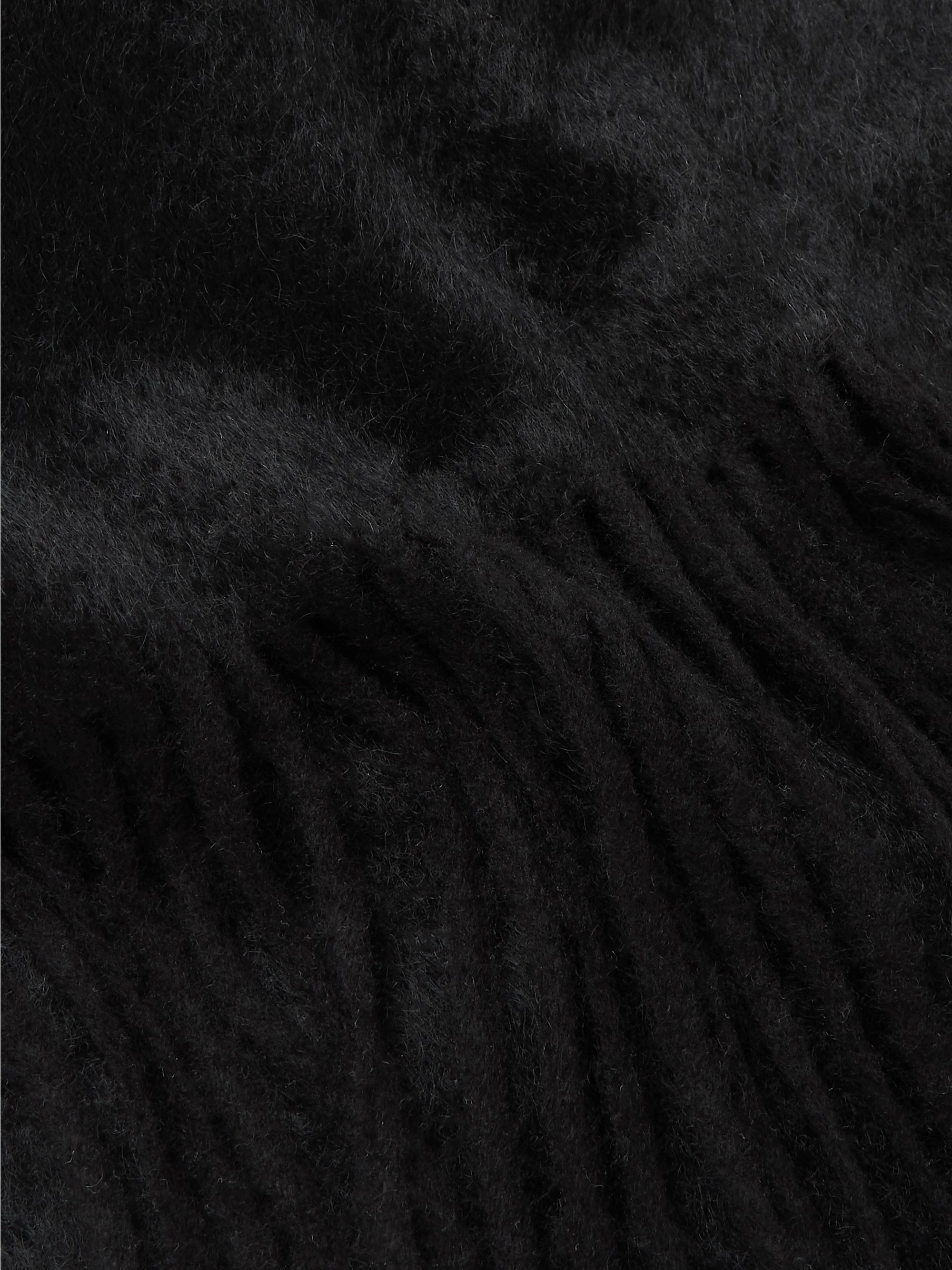 SAINT LAURENT Fringed Wool and Mohair-Blend Scarf