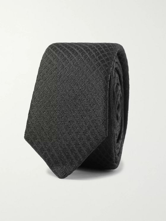 SAINT LAURENT 4cm Silk-Blend Jacquard Tie