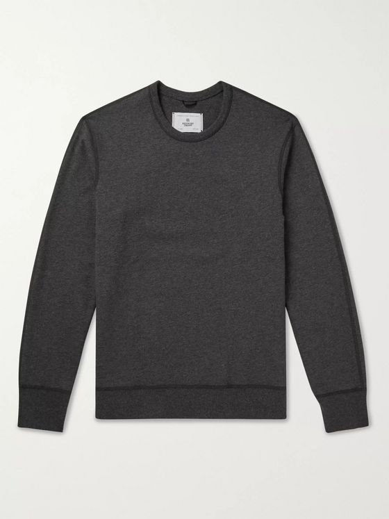 Reigning Champ Mélange Loopback Cotton-Jersey Sweatshirt