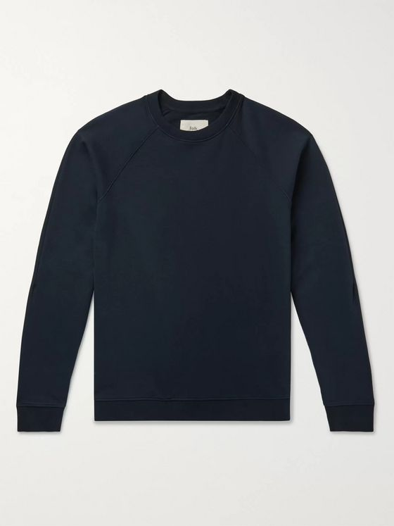 FOLK Rivet Garment-Dyed Loopback Cotton-Jersey Sweatshirt