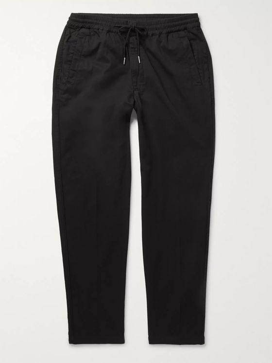 FOLK Tapered Cotton-Twill Drawstring Trousers