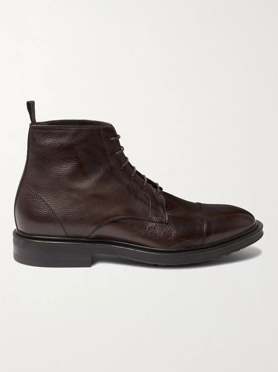 Paul Smith Cubitt Cap-Toe Leather Boots