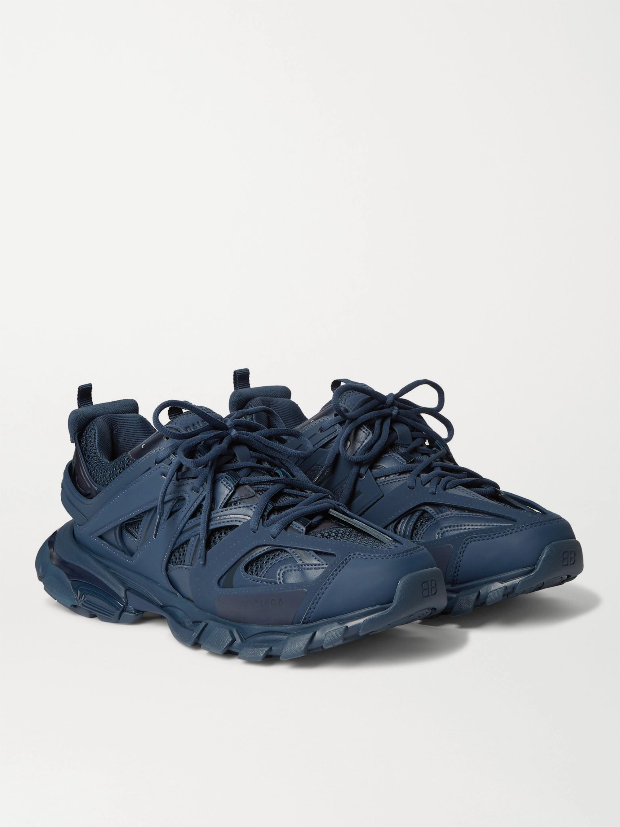Balenciaga Track Nylon, Mesh and Rubber Sneakers