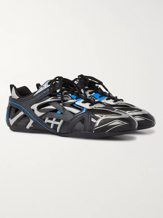 Balenciaga Drive Mesh and Rubber Sneakers
