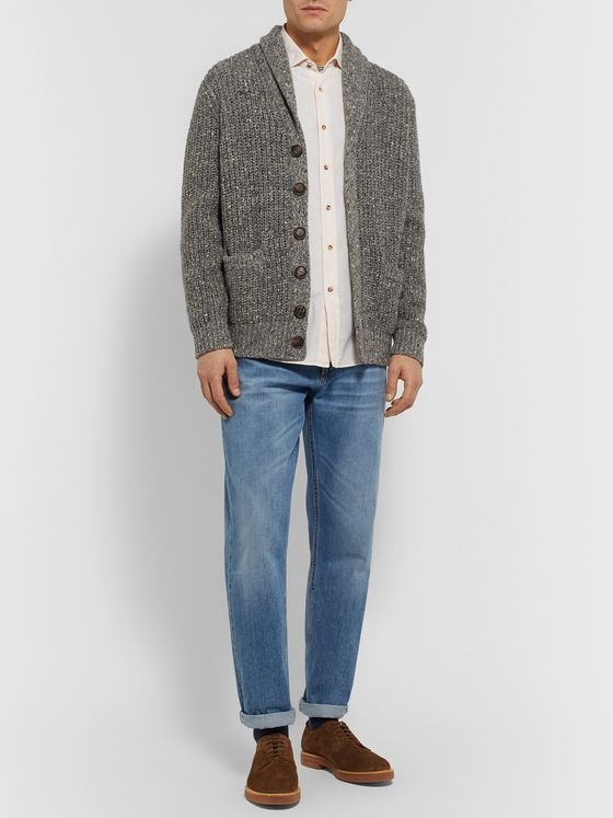 Brunello Cucinelli Herringbone Cotton-Flannel Shirt