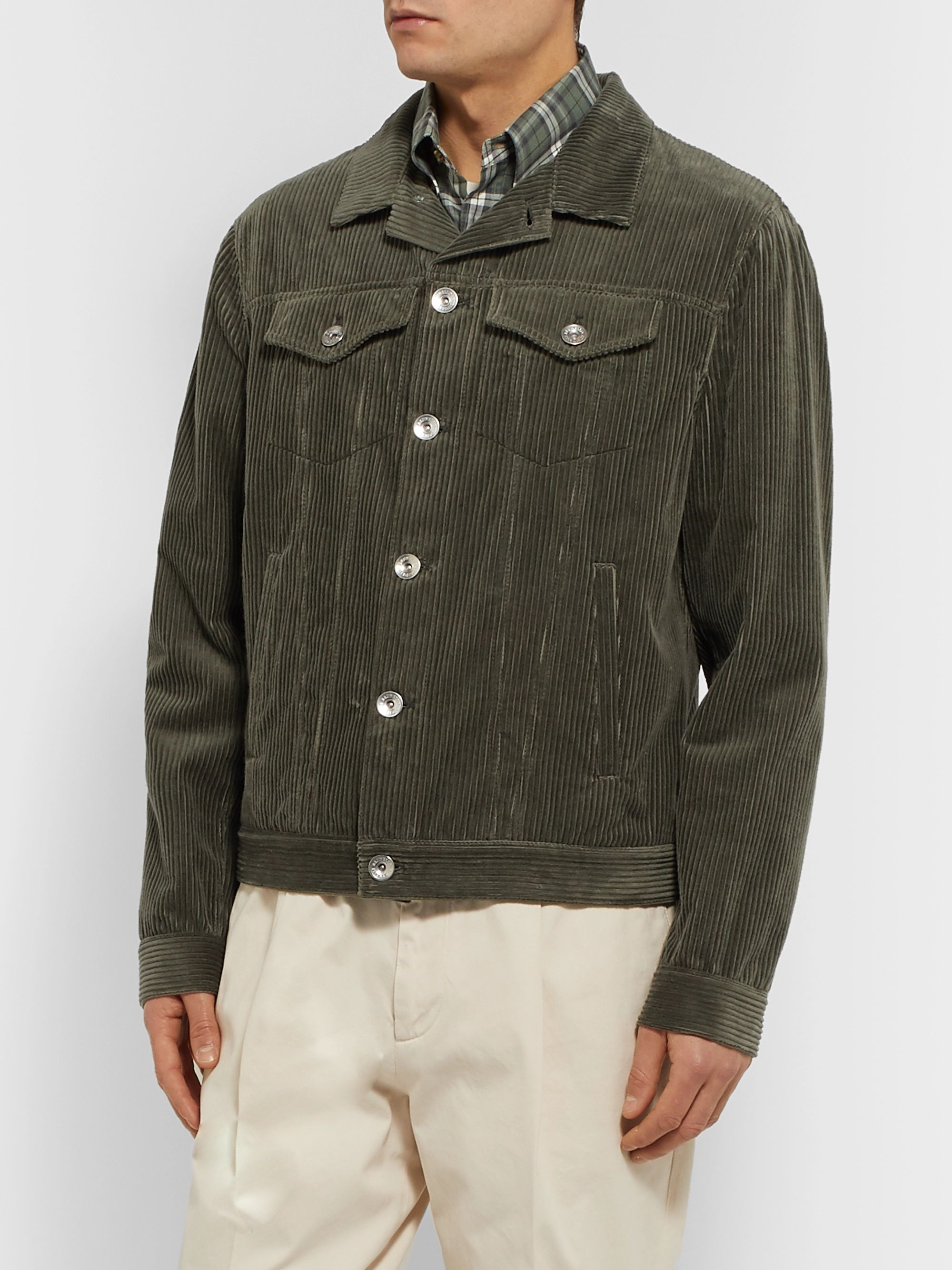 Brunello Cucinelli Sea Island Cotton and Cashmere-Blend Corduroy Trucker Jacket