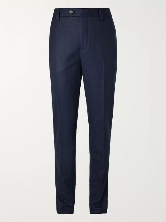 Brunello Cucinelli Slim-Fit Virgin Wool-Flannel Trousers