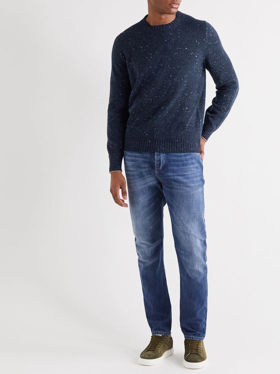 Brunello Cucinelli Mélange Wool-Blend Sweater