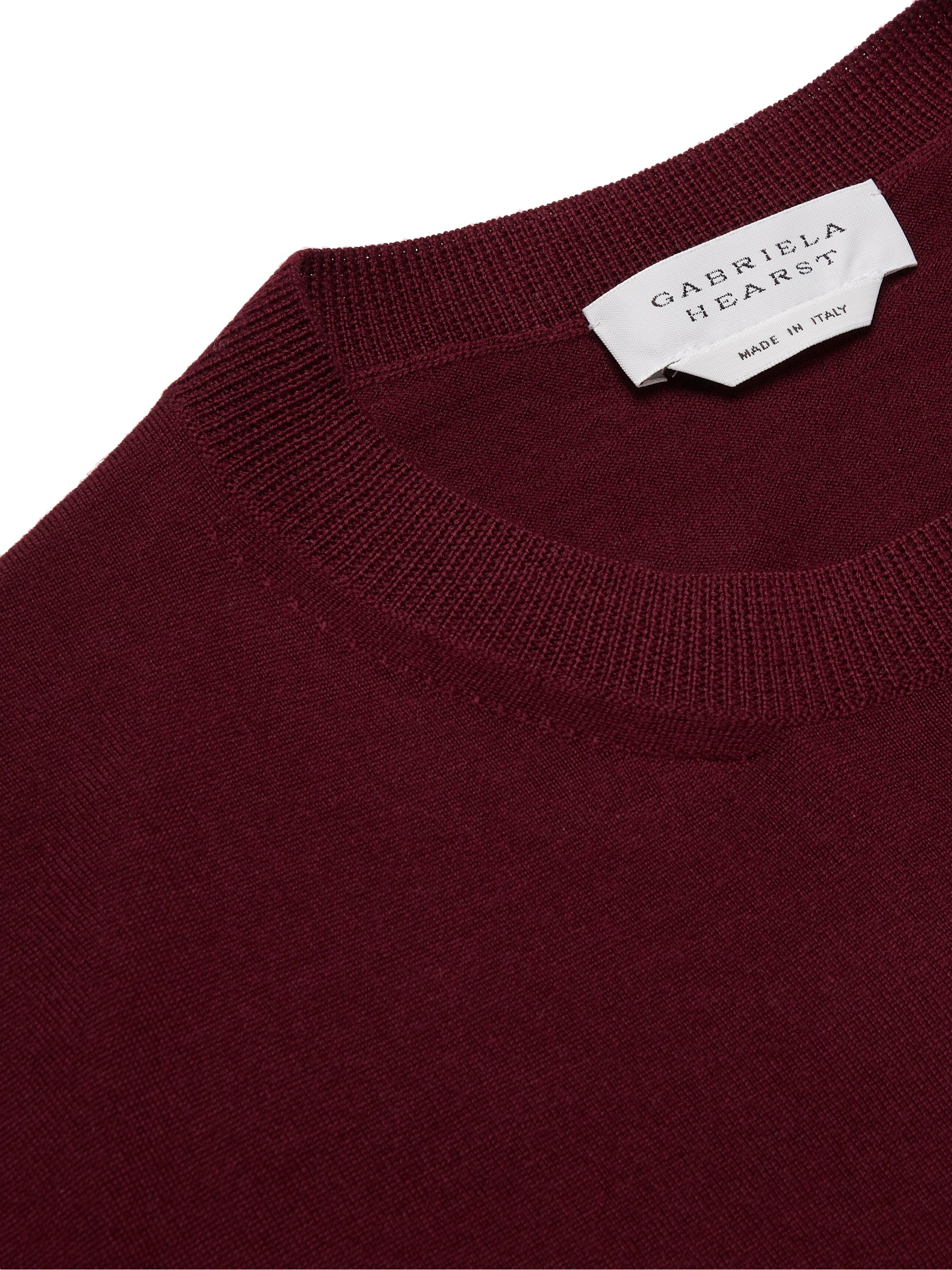 Burgundy Palco Slim-fit Virgin Wool Sweater | Gabriela Hearst