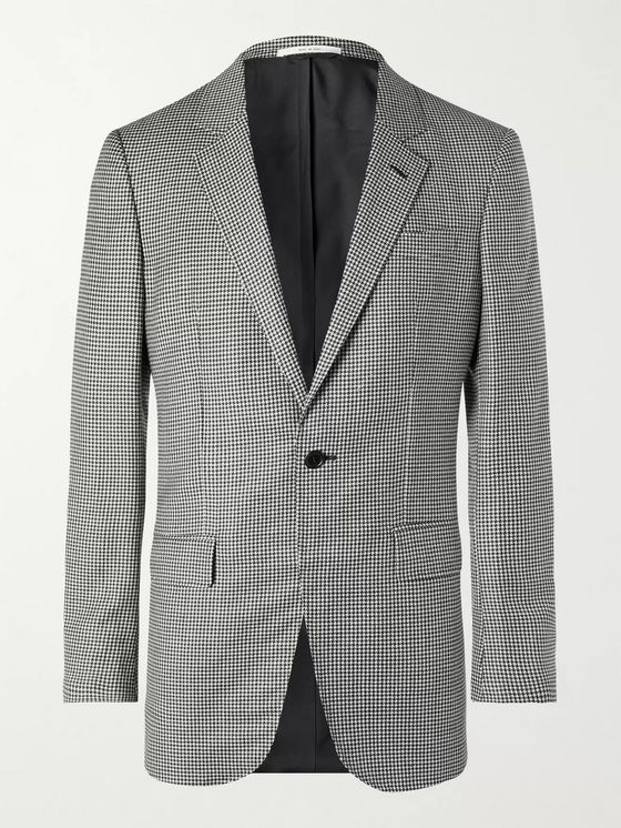 GABRIELA HEARST Damien Houndstooth Virgin Wool and Cashmere-Blend Suit Jacket