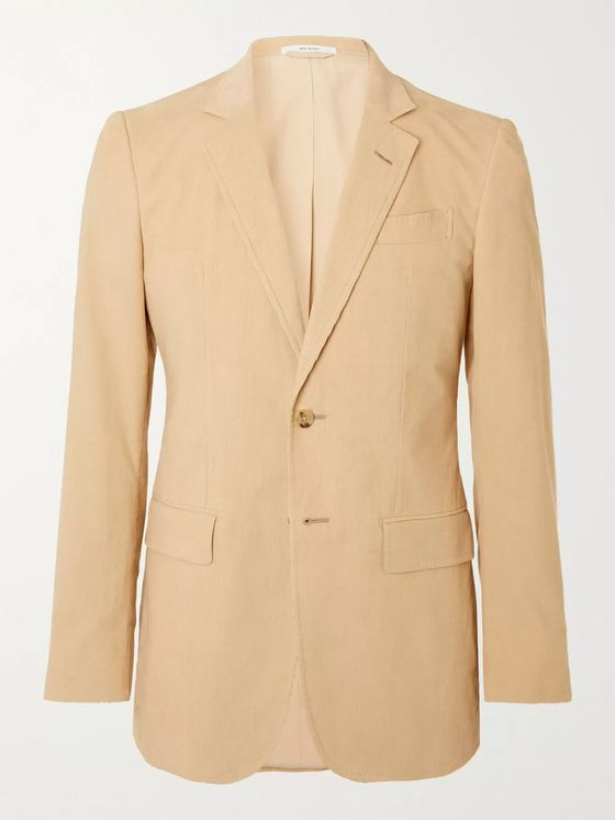 GABRIELA HEARST Irving Slim-Fit Cotton-Corduroy Blazer