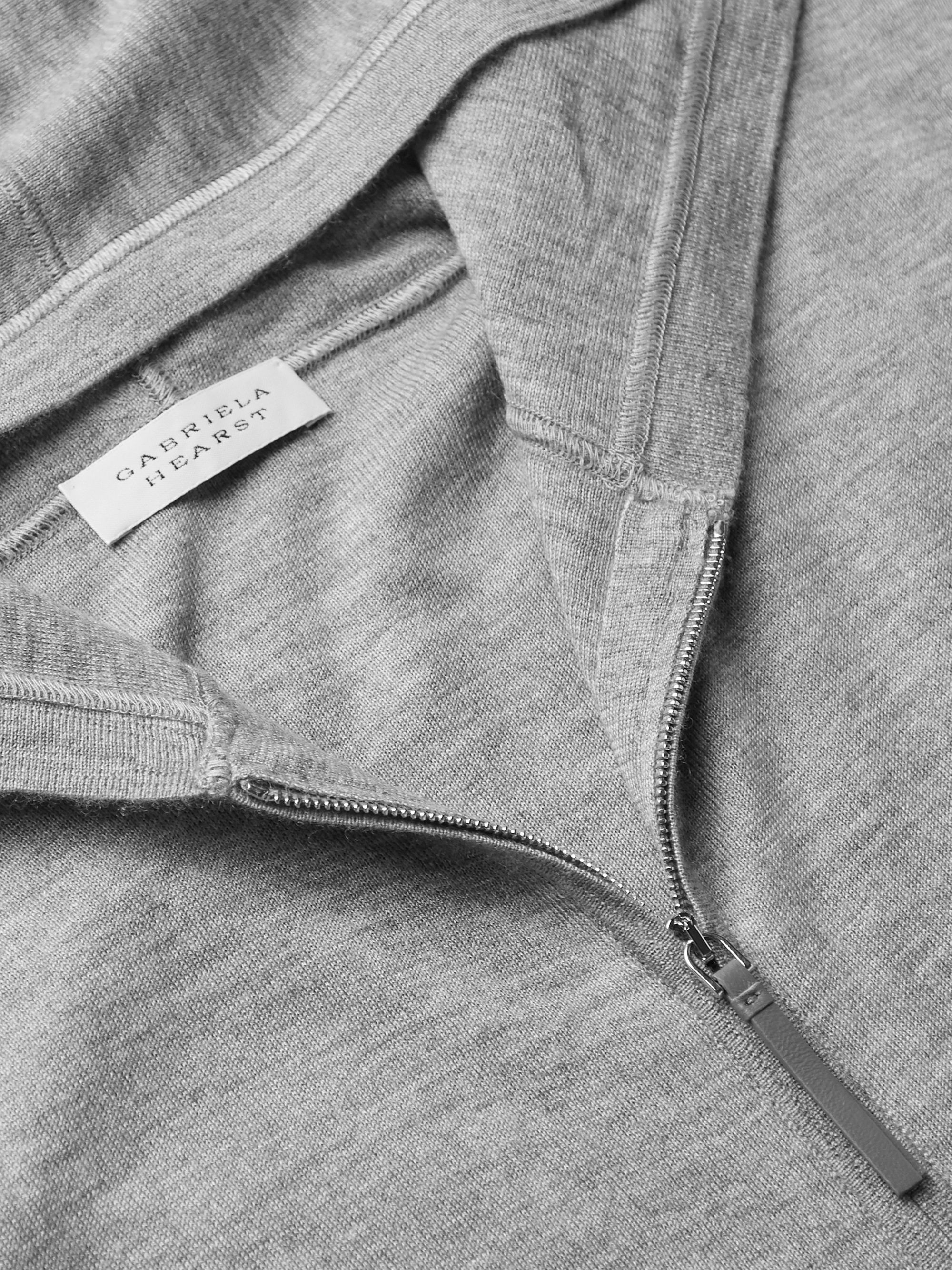Gabriela Hearst Jean Paul Cashmere and Silk-Blend Zip-Up Hoodie