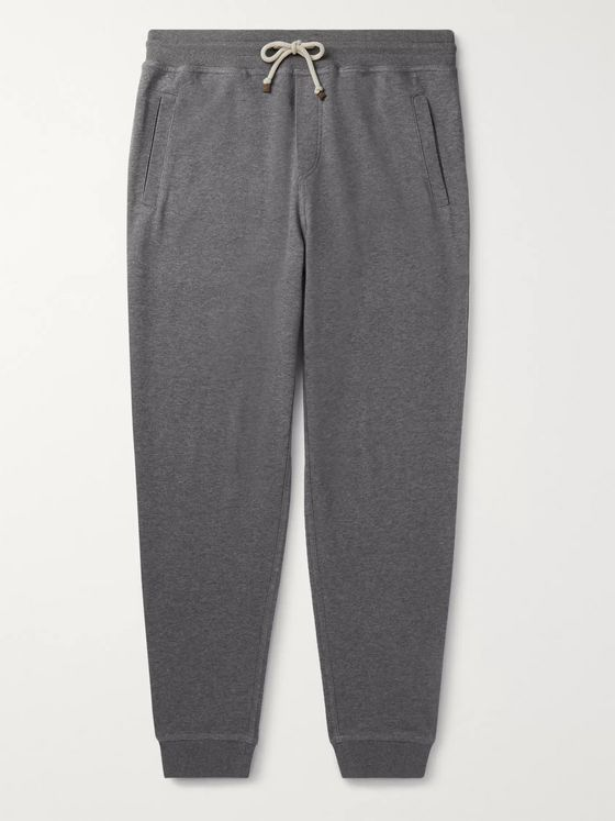 Brunello Cucinelli Tapered Cotton-Blend Jersey Sweatpants
