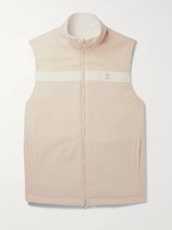 Brunello Cucinelli Reversible Cashmere and Nylon Gilet
