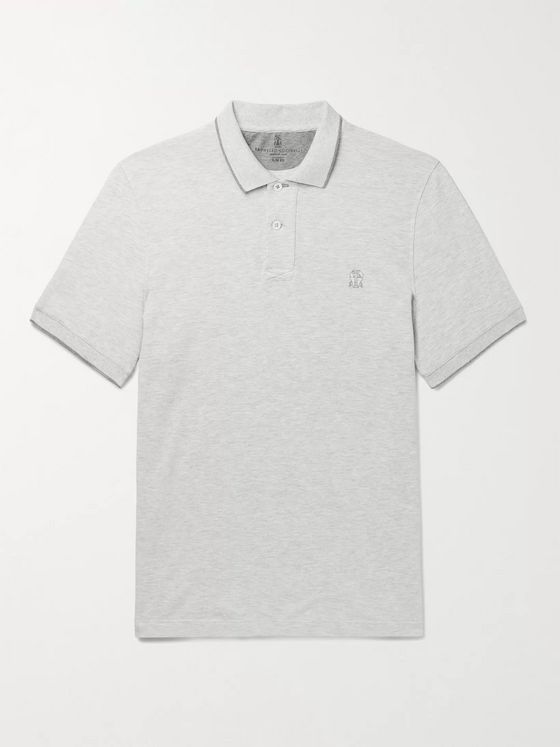 Brunello Cucinelli Slim-Fit Cotton-Piqué Polo Shirt