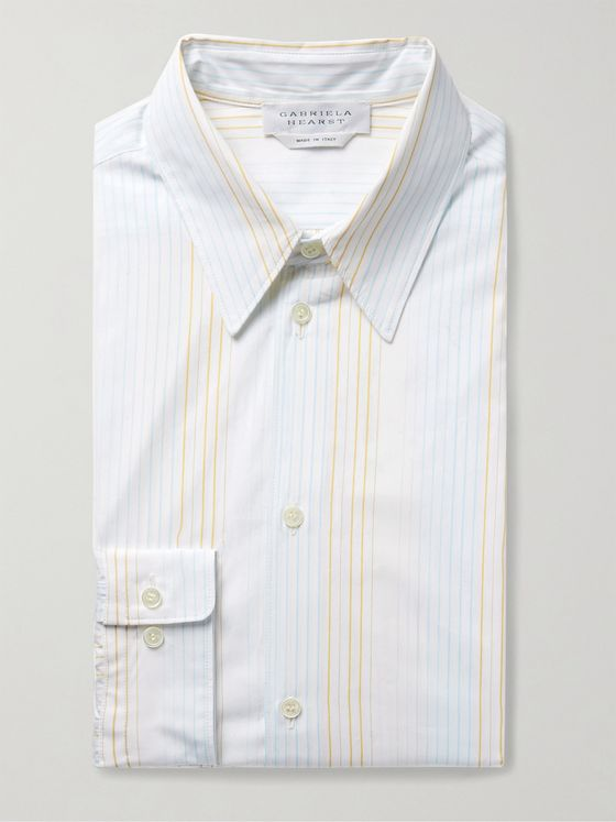 GABRIELA HEARST Quevedo Slim-Fit Striped Cotton-Poplin Shirt