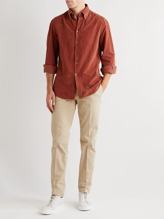 Brunello Cucinelli Slim-Fit Cotton-Corduroy Shirt