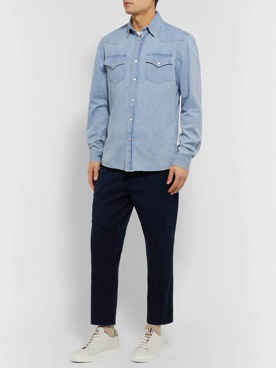 BRUNELLO CUCINELLI Slim-Fit Denim Western Shirt