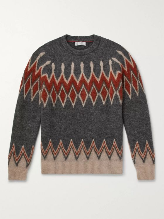 Brunello Cucinelli Intarsia-Knit Sweater