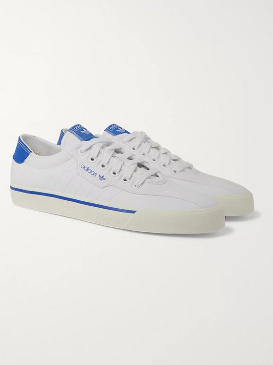 adidas Originals Love Set Super Leather-Trimmed Canvas Sneakers