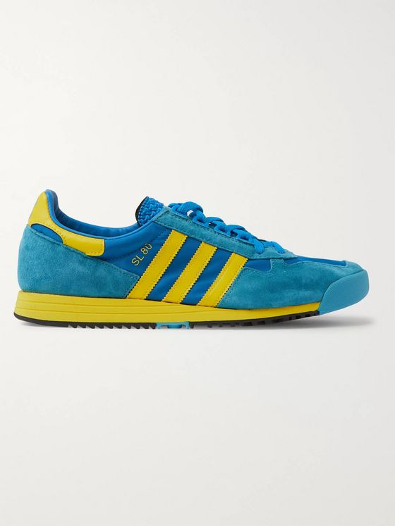 adidas Originals SL 80 Nylon, Suede and Leather Sneakers