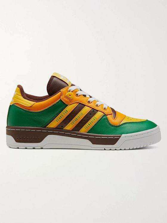 adidas Consortium + Human Made Rivalry Colour-Block Leather Sneakers