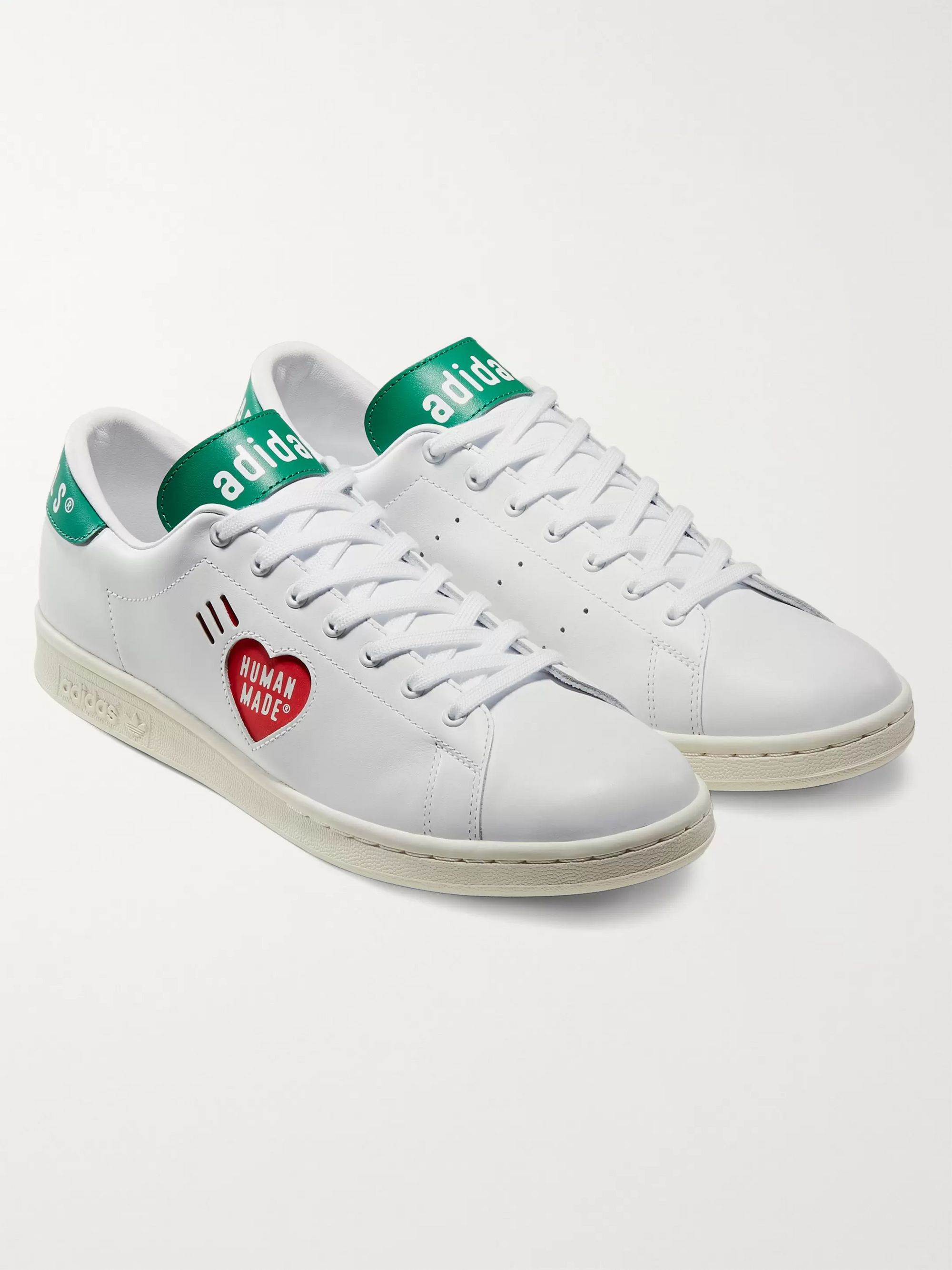 adidas Consortium + Human Made Stan Smith Logo-Print Leather Sneakers