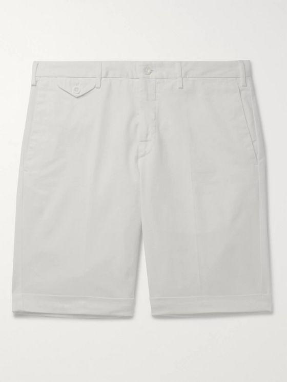 Incotex Slim-Fit Stretch-Cotton Twill Bermuda Shorts