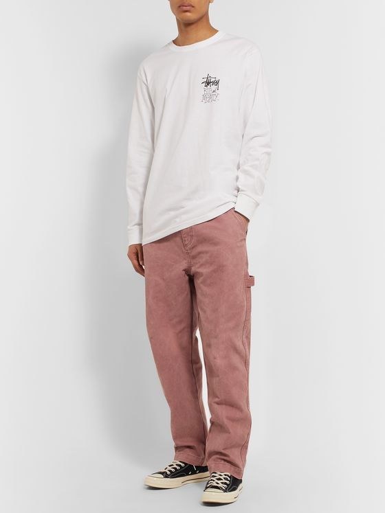 Stüssy Washed Cotton-Canvas Cargo Trousers
