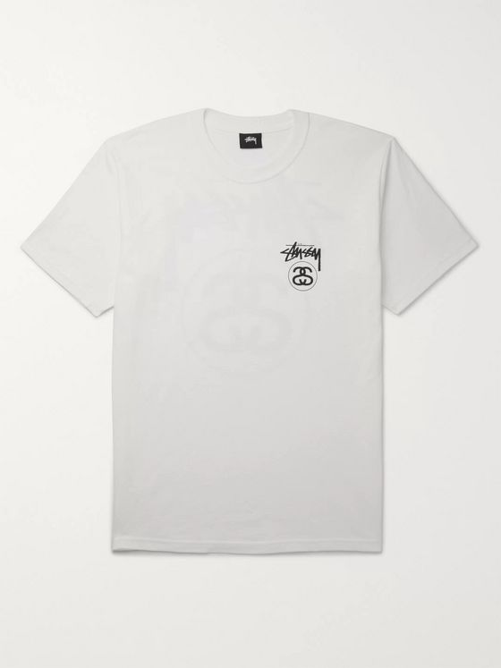 Stüssy Logo-Printed Cotton-Jersey T-Shirt