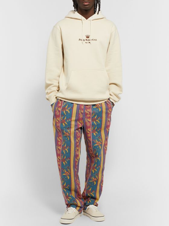 Stüssy Tapered Printed Cotton-Twill Trousers