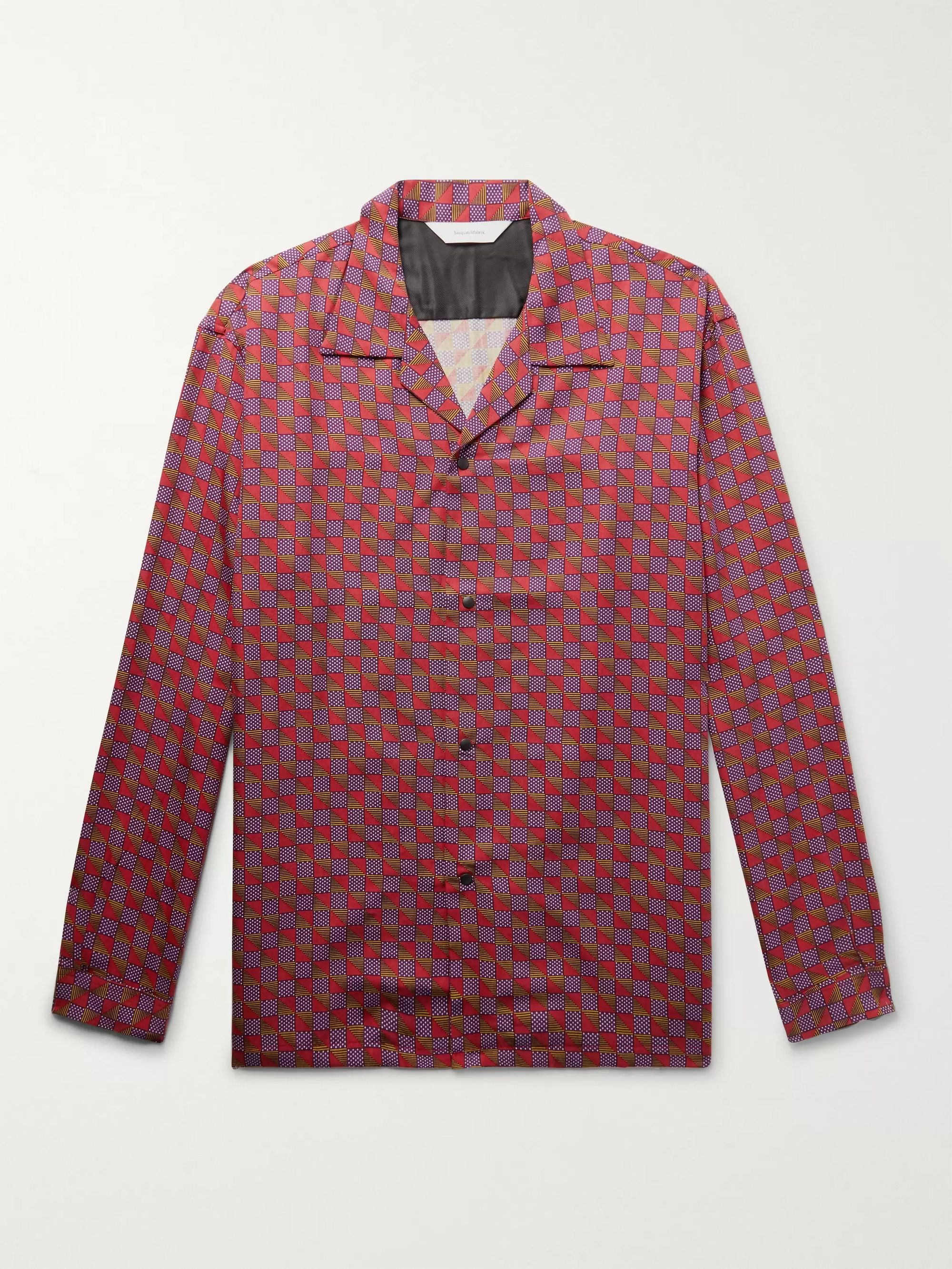 Sasquatchfabrix. Camp-Collar Printed Lyocell-Twill Shirt