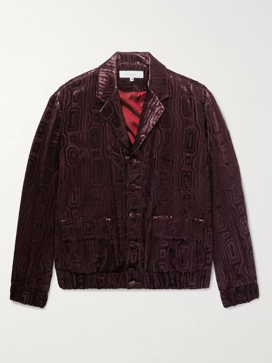 Sasquatchfabrix. Textured-Velvet Suit Jacket