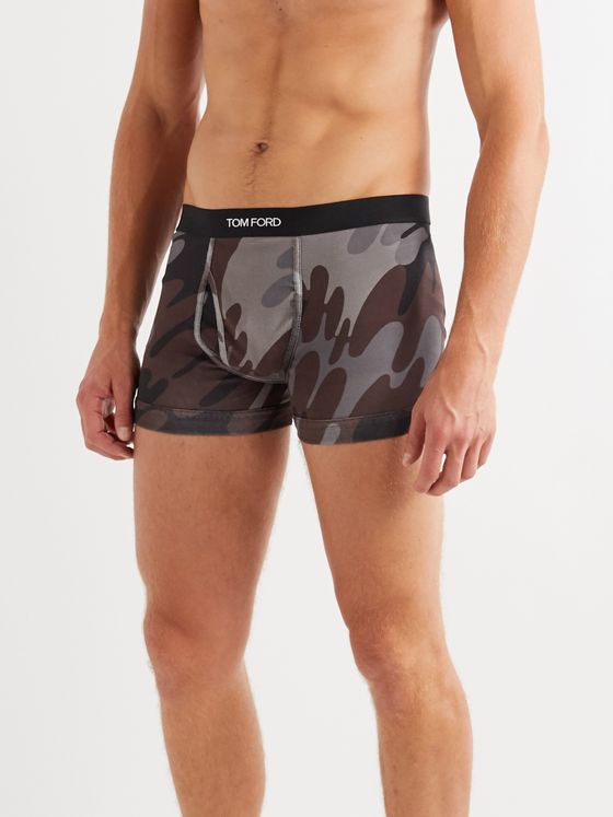 TOM FORD Camouflage-Print Stretch-Cotton Jersey Boxer Briefs