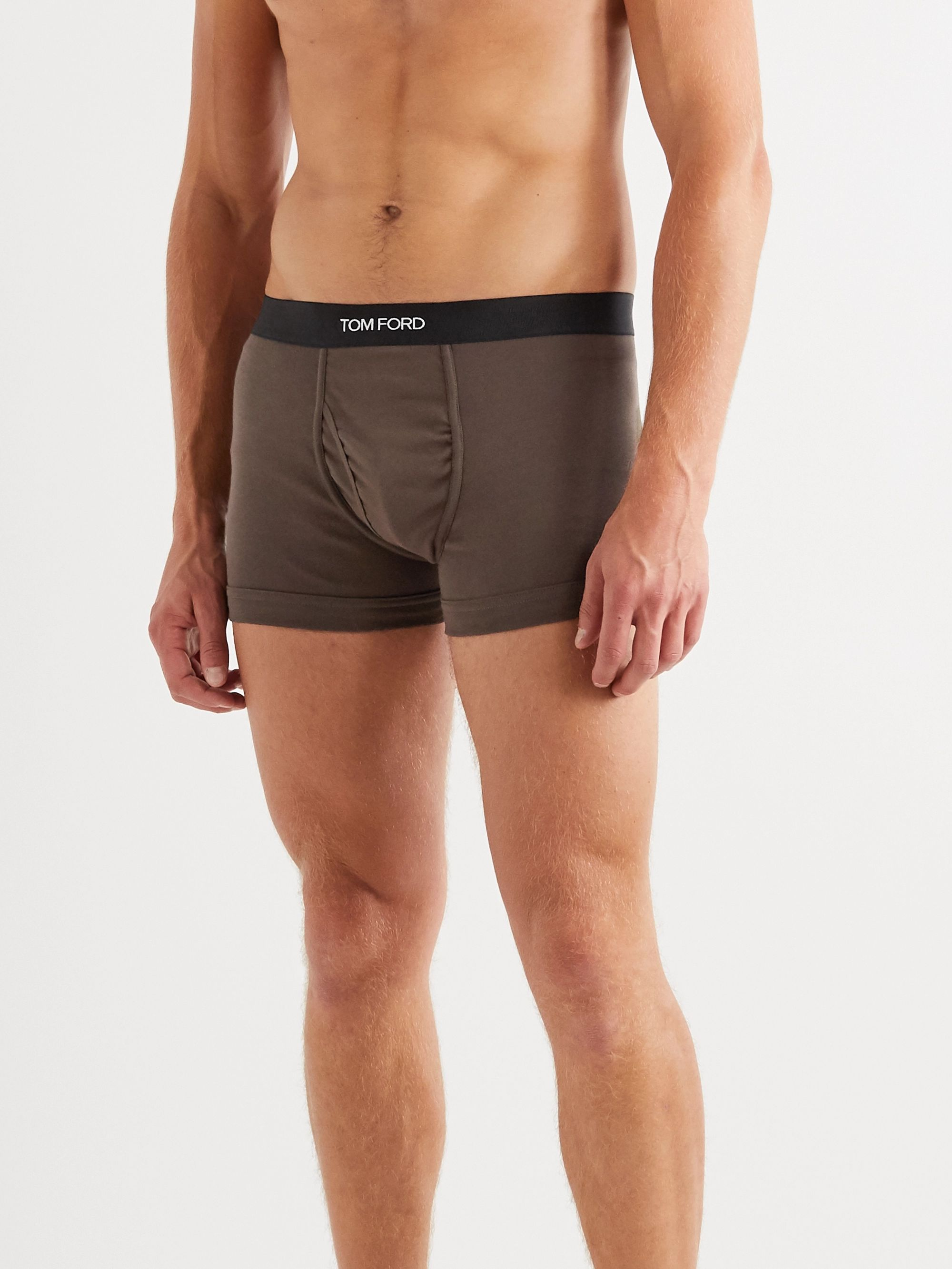 Green Stretch-cotton Jersey Boxer Briefs | Tom Ford