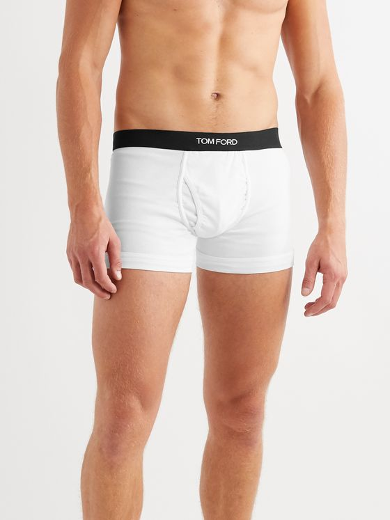TOM FORD Two-Pack Stretch-Cotton Boxer Briefs