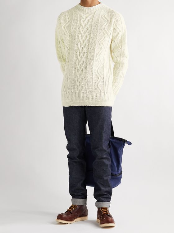 Howlin' Super Cult Slim-Fit Cable-Knit Wool Sweater