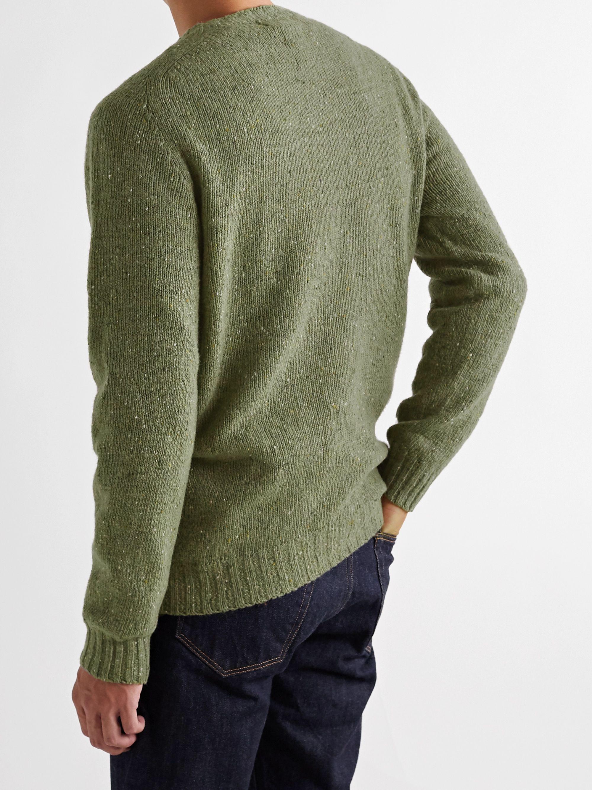 Army Green Terry Mélange Virgin Wool Sweater | Howlin'
