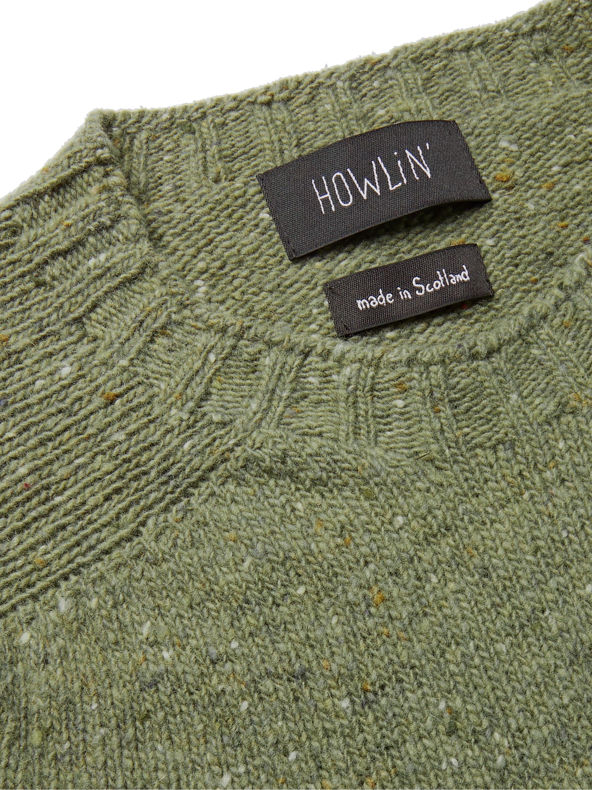 Army Green Terry Mélange Virgin Wool Sweater | Howlin'