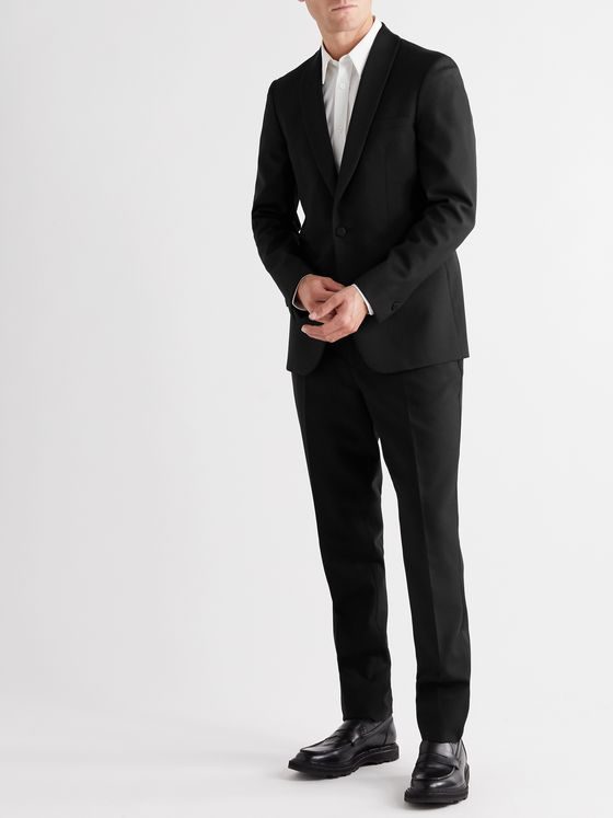MR P. Grosgrain-Trimmed Virgin Wool Tuxedo Trousers