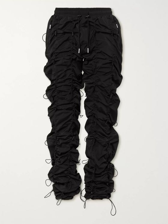 99%IS- Gobchang Tapered Stretch-Shell Drawstring Trousers