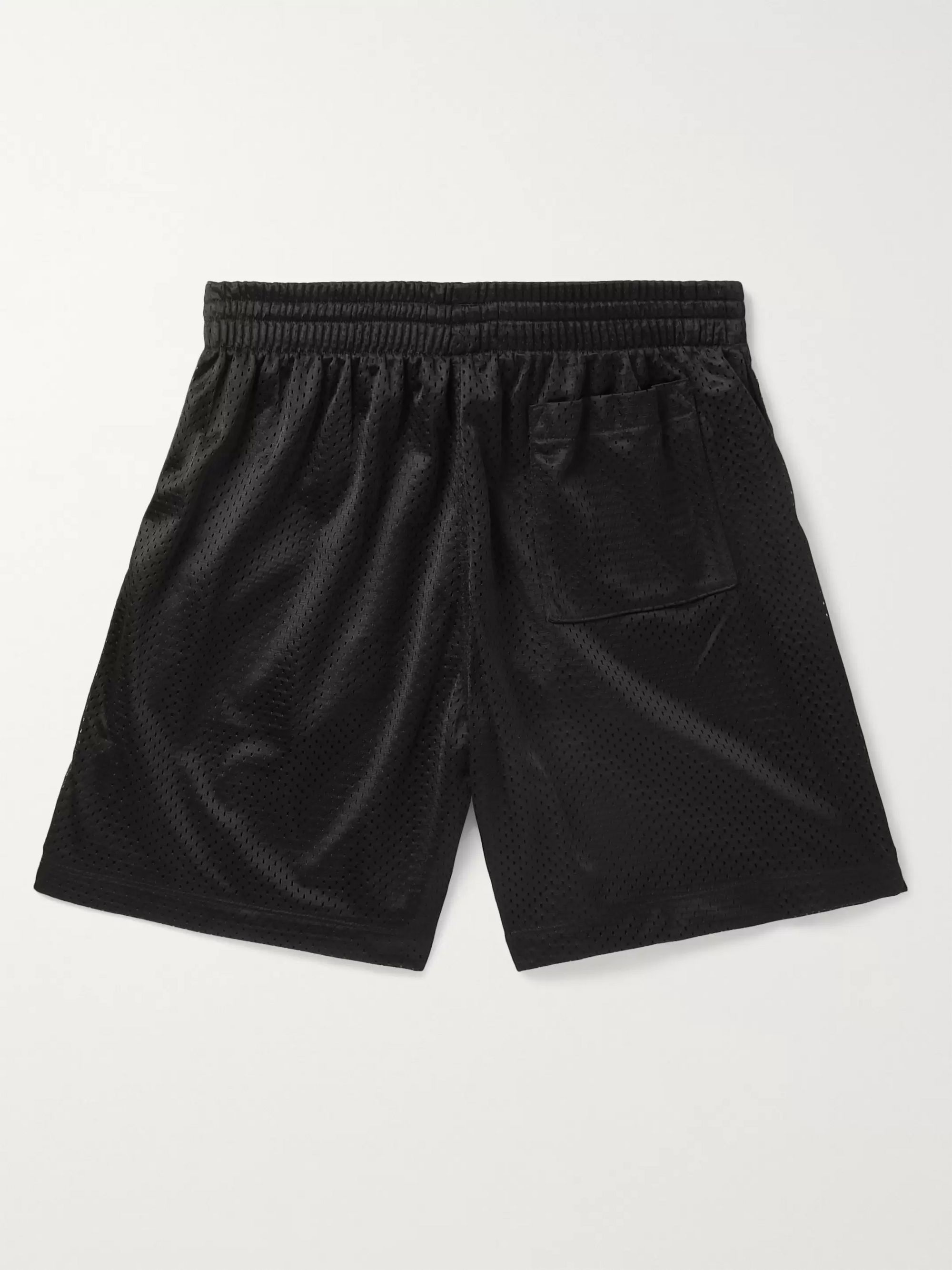 Pasadena Leisure Club Wide-Leg Logo-Appliquéd Mesh Drawstring Shorts