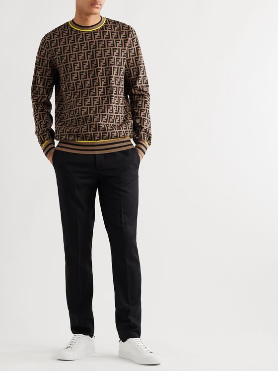 Fendi Logo-Intarsia Knitted Sweater